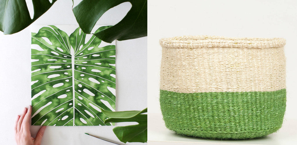 The Basket Room Green Planter