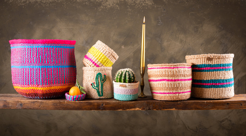 Brighten the home this Christmas, gift colourful handwoven baskets from Kenya