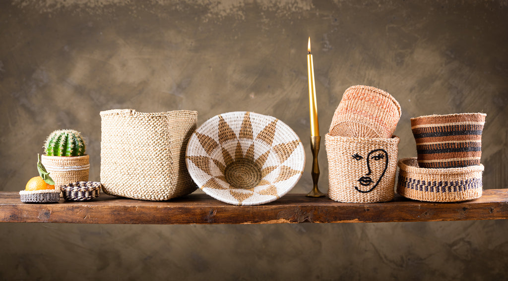 Bring the outside in this Christmas, gift natural handwoven baskets from Kenya