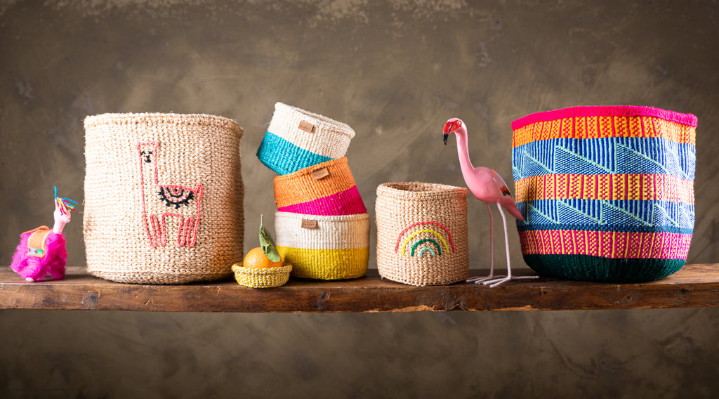 Fun ethical Christmas gifting options for children, gift handwoven baskets from Kenya