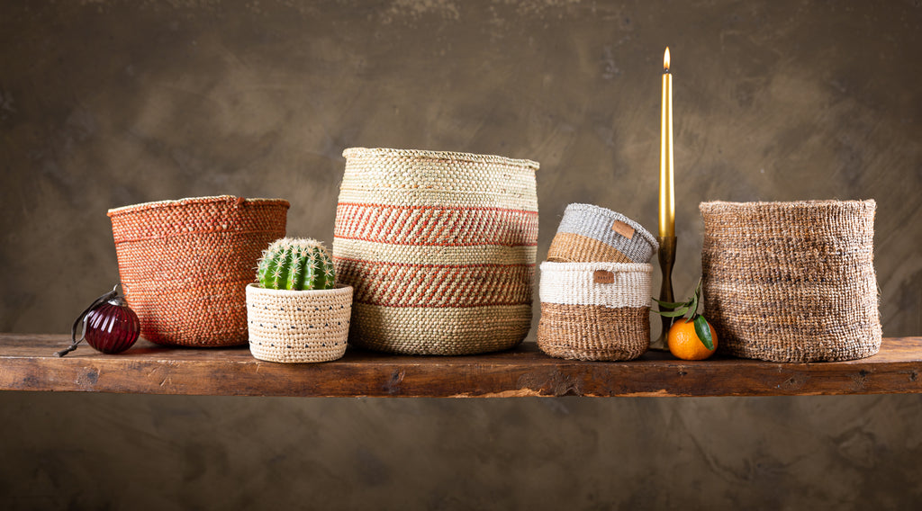 Ethical Christmas gifting options for him, gift handwoven baskets from Kenya