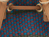 HAPANA: Handwoven Blue and Brown Backpack