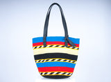 HALIMA: Multi-coloured Wool Bag - The Basket Room   - 1