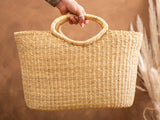 BUSUNU: Natural Woven Shopping Basket