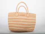 MISTARI: Natural Stripe Shopper - The Basket Room   - 1