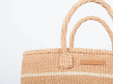 MISTARI: Natural Stripe Shopper - The Basket Room   - 2