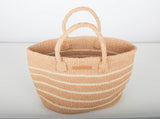 MISTARI: Natural Stripe Shopper - The Basket Room   - 4