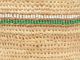 KIJANI: Green Beaded Doum Palm Leaf Baskets - Nomadic Beaded - The Basket Room