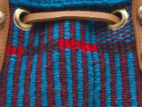 HAMA: Handwoven Blue and Red Bucket Bag
