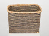 AKOSU: Black Striped Rectangular Baskets - Square & Rectangular - The Basket Room