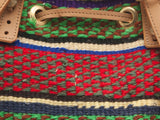 UWEZO: Handwoven Green, Red and Black Backpack