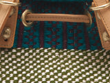 PAMOJA: Handwoven Blue, Black and Green Backpack