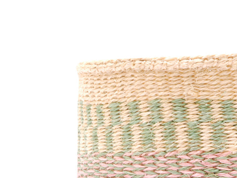 AMRI: Small Red and Brown Sisal Basket