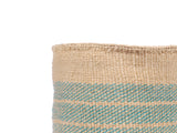 KIASI: Medium Turquoise Sisal Basket