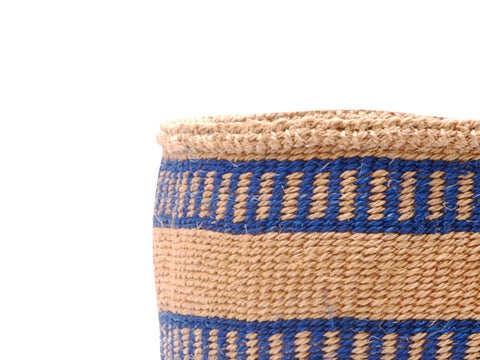 BASI: Small Sand with Orange Dots Sisal Basket