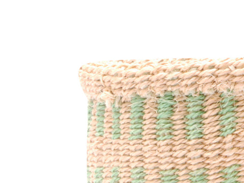BILA: Extra Small Brown Striped Sisal Basket