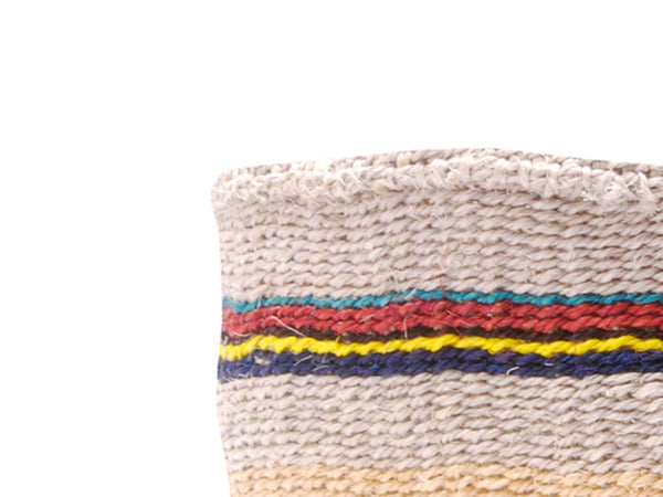 ENEO: Small Pink and Yellow Sisal Basket