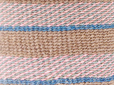 DAMU: Handwoven Blue and Pink Wool Tote Bag