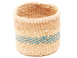 SIMBA: Blue and Yellow Striped Bread Basket