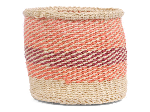 HAKI: Extra Small Orange and Purple Sisal Basket
