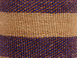 KESHA: Medium Blue and Brown Sisal Basket