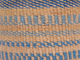 KIDOSHO: Medium Blue Pattern Sisal Basket