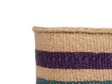 KIMBO: Medium Purple, Teal and Grey Sisal Basket