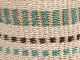 LEO: Extra Small Turquoise and Brown Sisal Basket