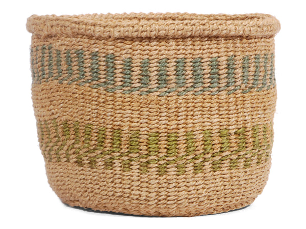 MAARUFU: Extra Small Green Sisal Basket
