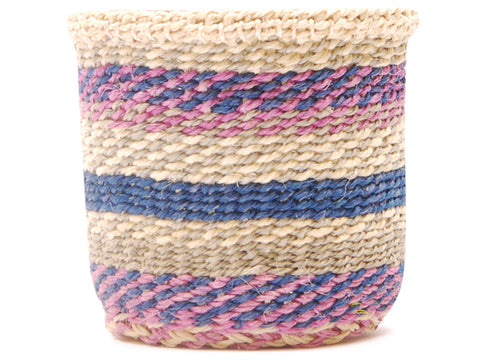 WIKI: Extra Small Pink and Turquoise Sisal Basket