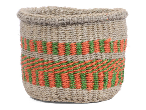 YAI: Extra Small Green, Red and Grey Sisal Basket