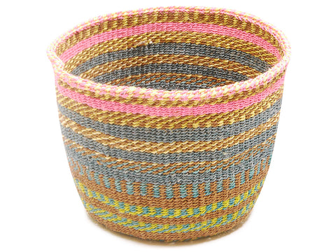 LALA: Blue Patterned Striped Bread Basket
