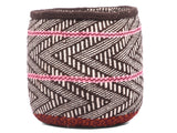MACHO: Extra Small Brown and Pink Wool Basket