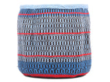 MAJANI: Extra Small Blue and Red Wool Basket