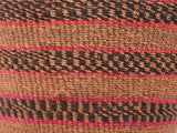 NCHI: Small Black, Red and Brown Sisal Basket
