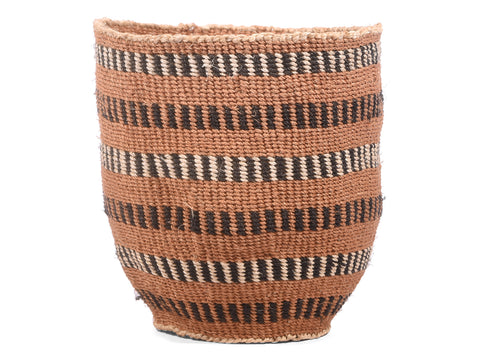 UPANDE: Small Brown and Black Sisal Basket