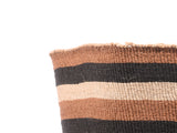 MPIRA: Medium Brown and Black Sisal Basket