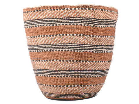 UKUTA: Large Brown and Black Sisal Basket