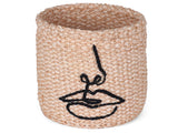 MIDOMO: Embroidered Lips Basket