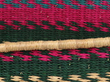 SAYERANO: Pink and Teal Woven Dog Basket - Small