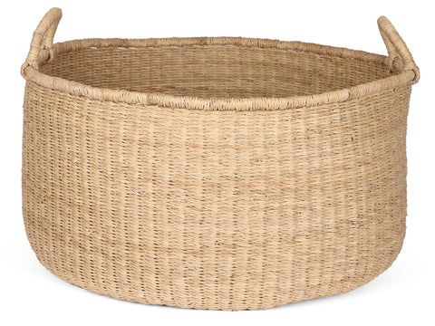 LAWRA: Natural Floor Storage Basket with Handles
