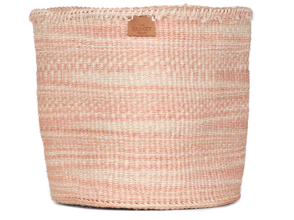 SARUFI: Medium Dusky Pink Cloud Woven Storage Basket