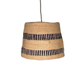 MADINI: Black/Natural Patterned Pendant Shade