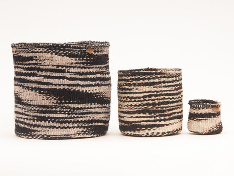 MKAA: Monochrome Cloud Woven Storage Basket