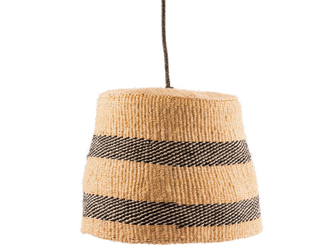 NDIPO: Black And Natural Pendant Shade