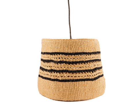 PITIA: Black/Natural Holey Pendant Lampshade