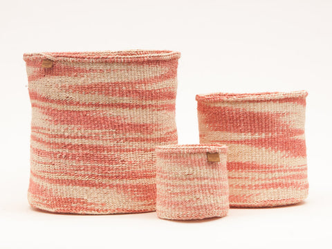 SAUTI: Dusky Pink Cloud Woven Storage Basket