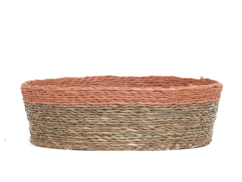 BLUSH: Dusky Pink Trim Bread Basket