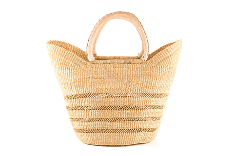GUA: Open Weave Shopping Basket - Market Basket - The Basket Room