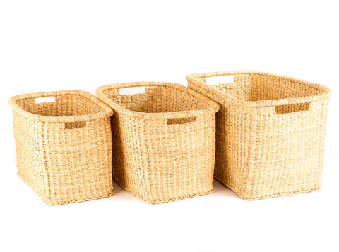 FRARA: Natural Rectangular Baskets - Square & Rectangular - The Basket Room